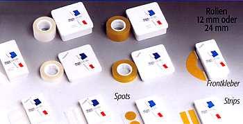 Verschiedene Toupet-Pflaster