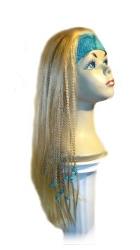 est241 - Kunsthaarteil, Perücke mit Stirnband, Haarlänge ca 60 cm,