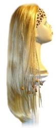 est243 - Kunsthaarteil, Perücke mit Stirnband, Haarlänge ca 60 cm